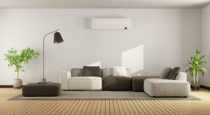living-room-with-wall-mounted-ductless-air-handler